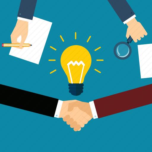 bulb, energy, idea, imagination, light, physics, team work icon