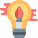 brush, bulb, creative, design, graphic, ideas, paint icon