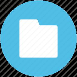 archive, computer folder, data organizing, data storage, folder, opened, storage icon