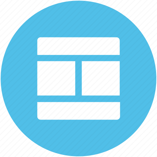 diagram, format, layout, one row, page design, scheme, template icon