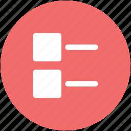 bullets, data, document, list, mobile app, points, web app icon