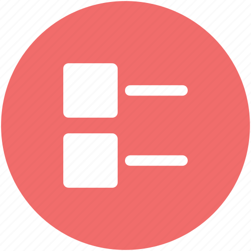 bullets, data, document, list, mobile app, points, web app icon