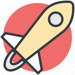 aircraft, airship, missile, rocket, spaceship icon