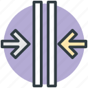 crisscross arrows, dragging, expand, intersect, merge icon