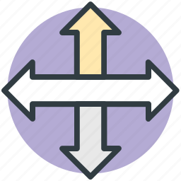 arrows, directions, hint, indication, upright icon