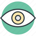 eye, view, visibility, visible, vision icon