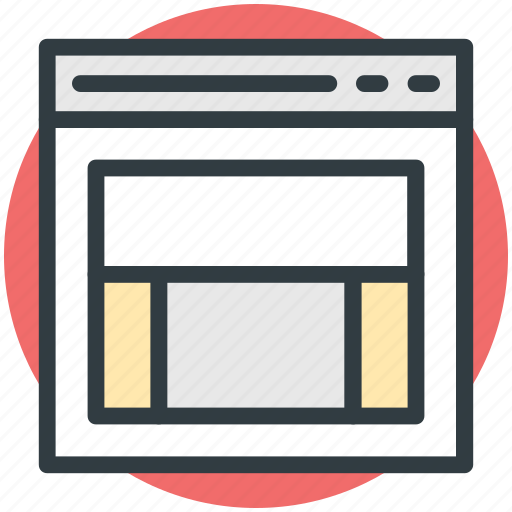 diagram, format, layout, page design, template icon