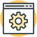 customize, gear, preferences, settings, web gear icon