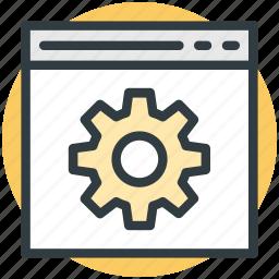 customize, gear, preferences, settings, web gear icon