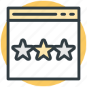 ranking star, star ornament, stars, three stars, web ranking icon