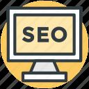seo, screen, optimization, display, search engine optimization