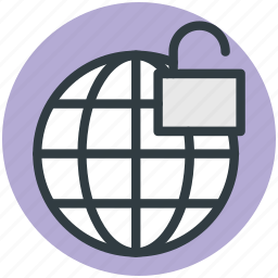 globe and lock, globe security, globe with lock, international security, universal security icon