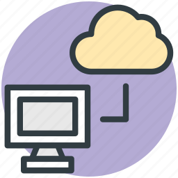 cloud network, communications, cyberspace, data delivery, wireless network icon