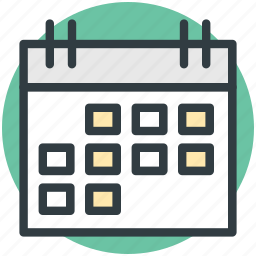 calendar, daybook, task frame, wall calendar, yearbook icon
