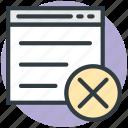 website design, page design, cancel template, cancel layout, format