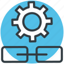 cogwheel, connectivity, link building, linkage settings, settings icon