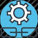 connectivity, cogwheel, linkage settings, link building, settings