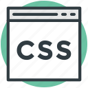 css file, f, file design, file format, storage, web apps icon
