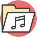 music, music file, music folder, music note, musical note icon
