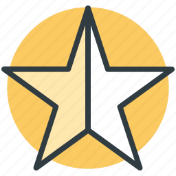 favorite, five pointed, like, shape, star icon