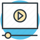 media player, multimedia, player, video player, video streaming icon