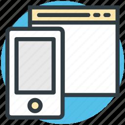 adaptive, adaptive design, layout, responsive, web design icon