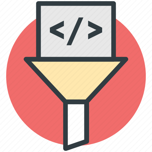coding filter, html, html coding, html coding filter, web coding, web development icon