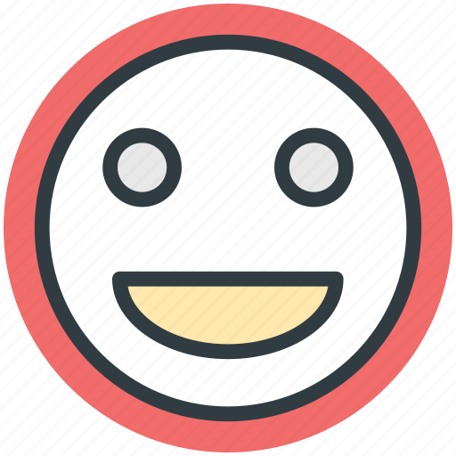 character, emoticon, emotion, happy face, smiley face icon