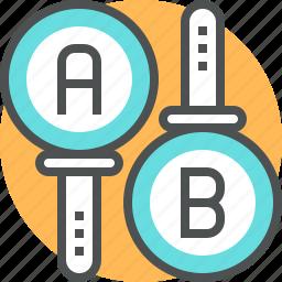 process, research, review, split, test, testimonal, testing icon