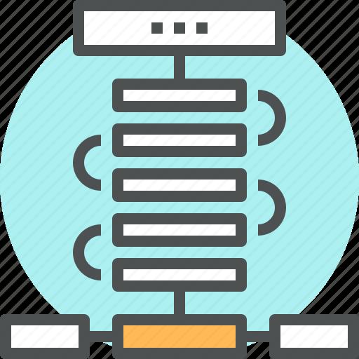 algorithm, chart, flow, organization, plan, process, programming, workflow icon