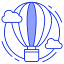 air balloon, air travel, airship, hot air balloon, parachute balloon icon