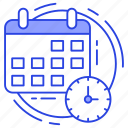 deadline, planning, schedule, time management, timetable icon