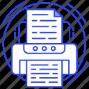 fax machine, hardware, inkjet, printer, printing machine, typographer icon
