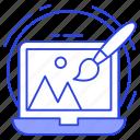 digital artwork, graphic design, interface design, online drafting, online drawing icon