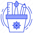 art tools, creativity, design tools, drafting tools, drawing tools icon