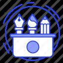 art tools, creativity, design tools, drafting tools, drawing tools, tool box icon