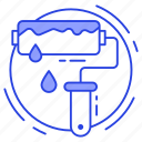 paint brush, paint roller, roller, roller brush, wall painting icon