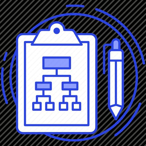 flow diagram, fluxogram, hierarchy, site tree, sitemap, structure icon