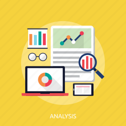 analysis, chart, concept, monitoring, searching icon