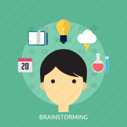 brainstorming, concept, development, idea, learning, thingking icon