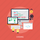 development, concept, app, coding, application, program, software icon