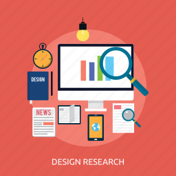 analysis, concept, design, research, searching icon
