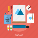 concept, paint, design, fine art, making, drawing icon