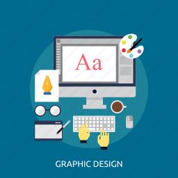 application, computer, concept, design, graphic design, tools icon