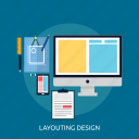 layouting design, web, concept, design icon