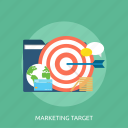 management, concept, branding target, analysis, marketing target icon