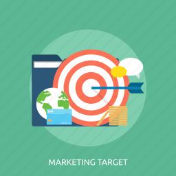 analysis, branding target, concept, management, marketing target icon