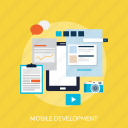 development, concept, mobile, app, application, software icon