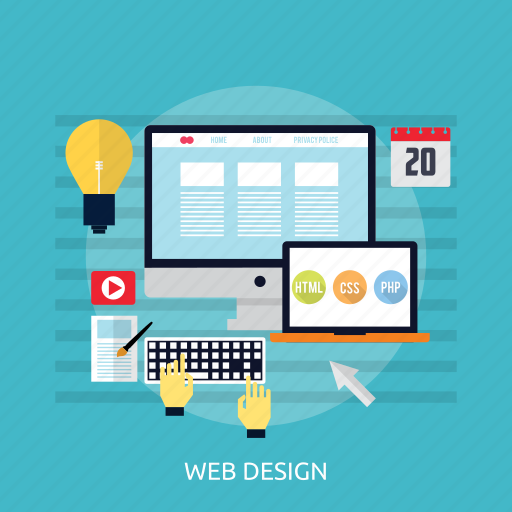 concept, design, development, layout, web design icon