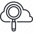 cloud, internet, line, optimization, seo, thin, website icon